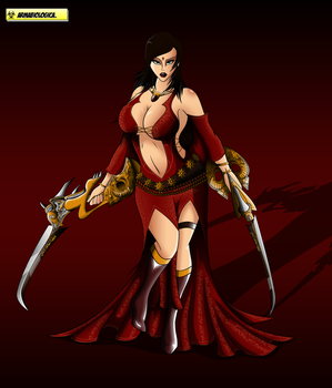 Obscuri-JAM: Kaileena the Empress of Time. by ArmaBiologica