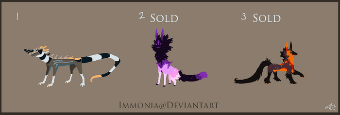 Mixed Creature adopts 170 [Point Option Available] by Adopt-Monstar