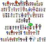 Sonic Boom RPG character sprites by the-Gitz