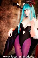 Morrigan cosplay from Darkstalkers by MorganaCosplay