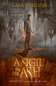 Book Cover I -  A sigil in the Ash by MirellaSantana