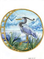 Great Blue Heron by HeartSoulLifePassion