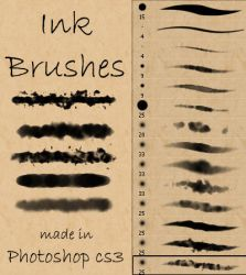 Ink and Watercolor Brushes by Stockry