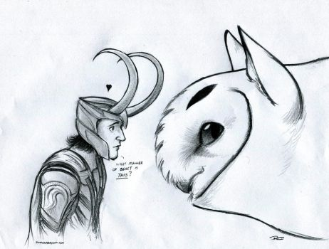 Loki and the Owl Griffin by RobtheDoodler
