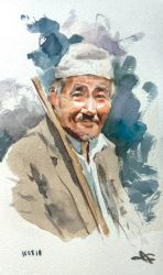 Nepali Old Man by facetheface