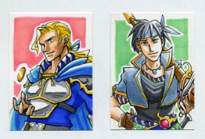 Sketch Card Edgar and Locke by glance-reviver