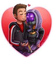 Valentines Day in Space by Lukael-Art