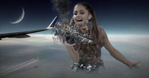 Mega Giantess Ariana Grande - Meal At 30,000ft by GiantessStudios101