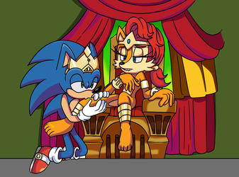 A King with his Queen by PlayfurCinema