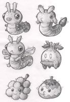 Sketches: Bugs and Slimes by KupoGames