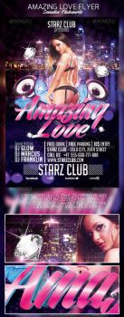 Amazing Love Party Flyer Template by SensationPhotoworks