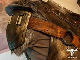 Skyrim Banded Iron Armor - right pauldron by Folkenstal
