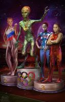aliens Olympic games 3014 by KonstantinBratishko