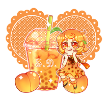 Peach Bubble Tea by Vocaloid-Mirai
