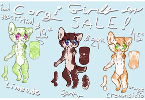 Corgi Girl Designs For Sale READ DESCRIPTION! by azulunae