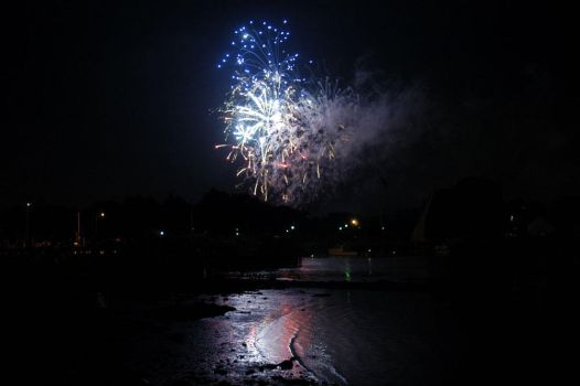 fireworks and the water by carina