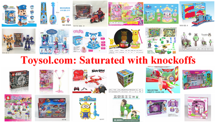 Toysol.com: Saturated with knockoffs by dev-catscratch