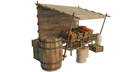 Market Stall 5, PNG by fumar-porros