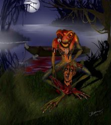 Frog Zombie by ArtbyBeans