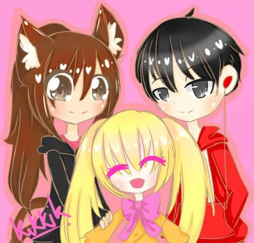l love my brother and sister by CandyChild777