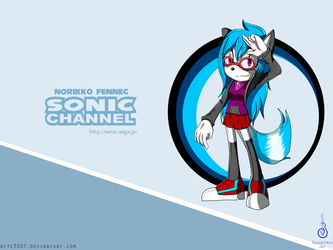 Norikko Fennec ~ Sonic Channel Wallpaper by Senpai-Hero