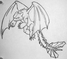 Toothless Sketch by MikePHearn