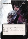 Magic the Gathering Alteration: Doom Blade 3-10-14 by Ondal-the-Fool