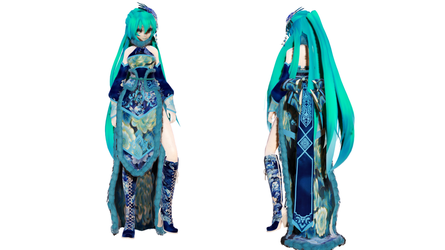 Model DL - TDA Winter Chinese Dress Miku by elina002