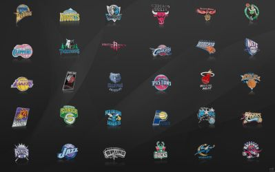 NBA Team Logos Wallpaper by nbafan