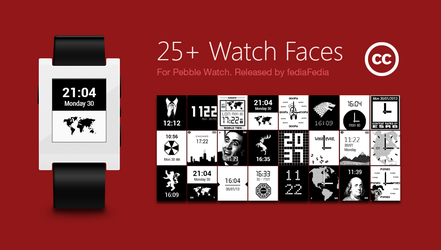 Pebble Watch Face Collection 25+ Themes by fediaFedia