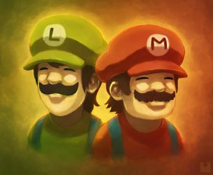 The Mario Brothers by Ry-Spirit