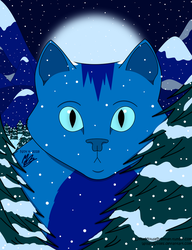 Cat In Snow by WillardStilles