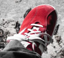 Red shoe no. 1 by sirlatrom