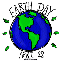 Earth Day April 22 by Inkstandy