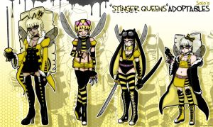 [CLOSED] 'STINGER QUEENS' Original Adopts by azume-adopts