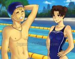 NaruTen- High School Swim Time by JuPMod