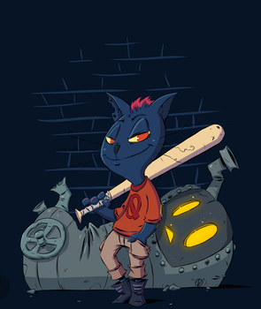 Night in the Woods - Kill the Furnace ( color ) by Nekr0ns
