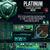 League of Legends HUD - Platinum by AliceeMad