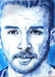 Chris Evans in shades of blue by Arsenid