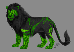 Speed Drawing: Lyddia Thaliyan's Lion by Wolfvane14