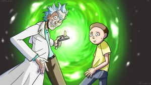 Rick and Morty (Wallpaper?) by Hiago NC by Hiagusres