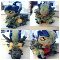 mega sceptile plush by LRK-Creations