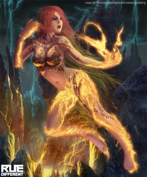 deception: fire Fairy by rue-different