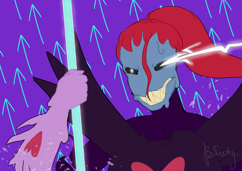 Undyne the Undying by batwhy