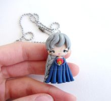 Sophie and calcifer polymer clay necklace by elvira-creations