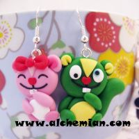 Happy Tree Friends inspired earrings by AlchemianShop