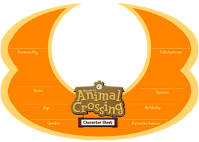 Animal Crossing Character Sheet by Iam4ever