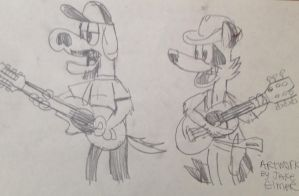Eric and Rob Country Duet (Sketch) by WolfGang-Jake