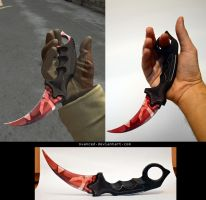 CSGO Karambit Slaughter Papercraft 2 by svanced