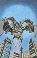Batman ink and markers by seanforney